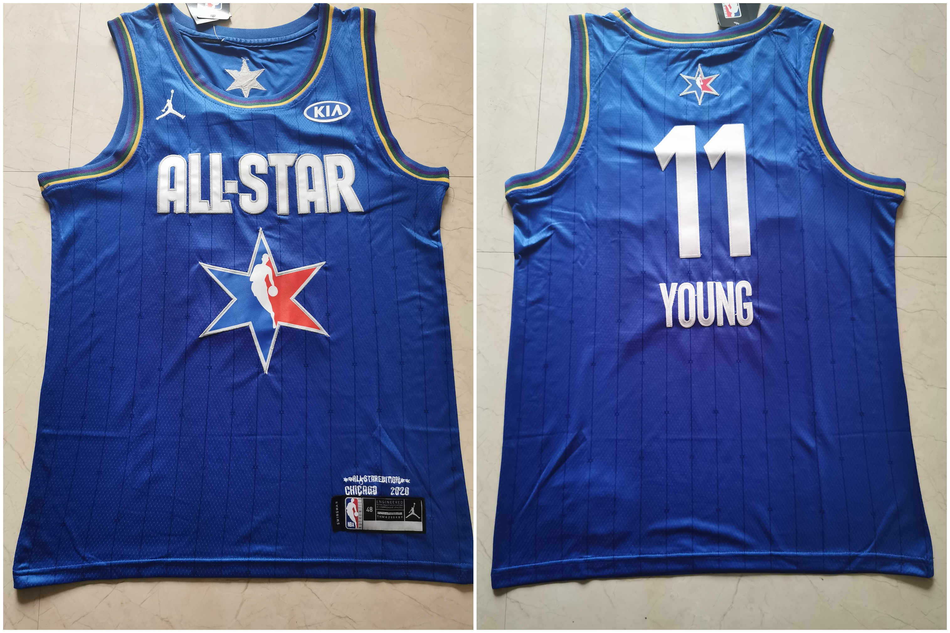 Hawks 11 Trae Young Blue 2020 NBA All-Star Jordan Brand Swingman Jersey