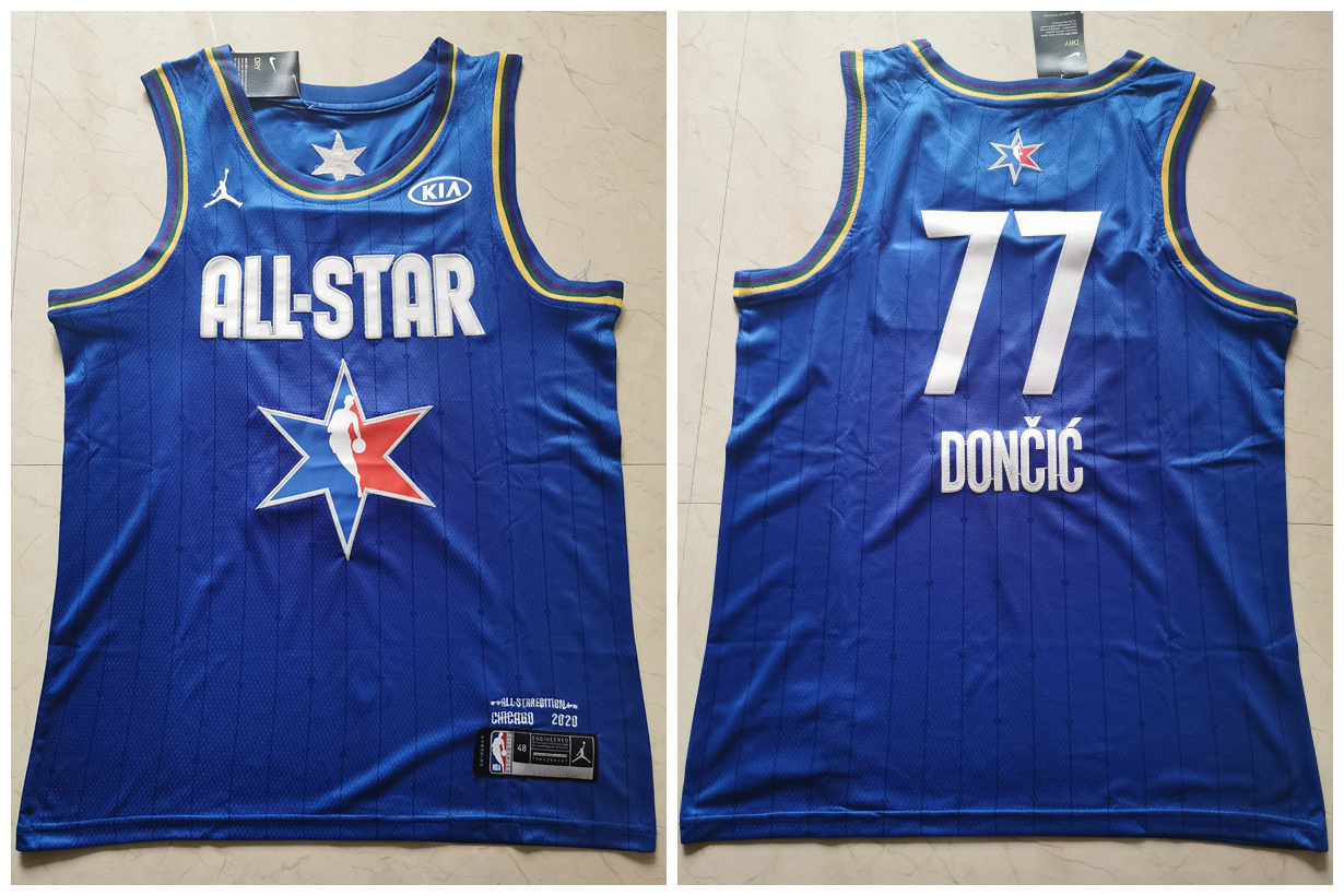 Mavericks 77 Luka Doncic Blue 2020 NBA All-Star Jordan Brand Swingman Jersey