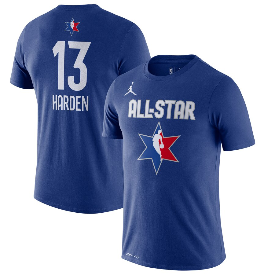 James Harden Jordan Brand 2020 NBA All-Star Game Name & Number Player T-Shirt Blue