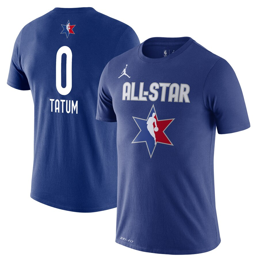 Jordan Brand Jayson Tatum Blue 2020 NBA All-Star Game Name & Number Player T-Shirt
