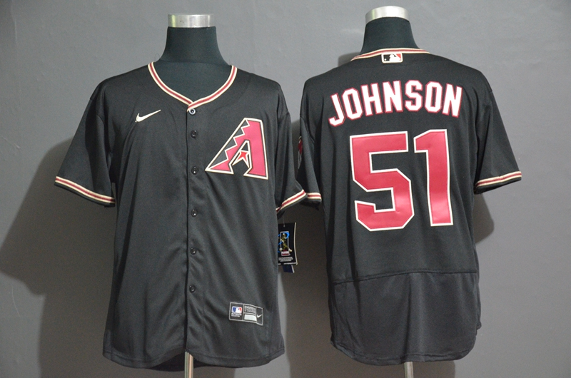 Diamondbacks 51 Randy Johnson Black Nike 2020 Flexbase Jersey