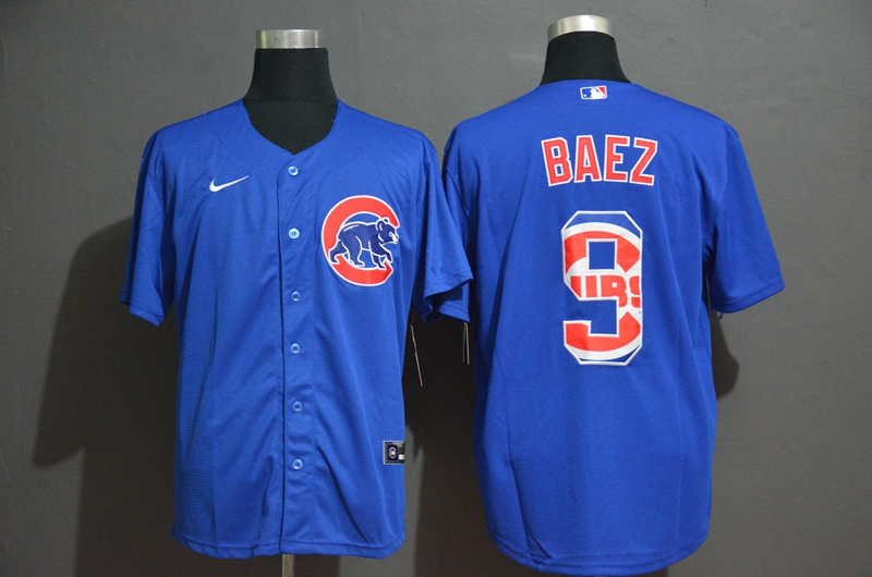 Cubs 9 Javier Baez Royal 2020 Nike Cool Base Fashion Jersey