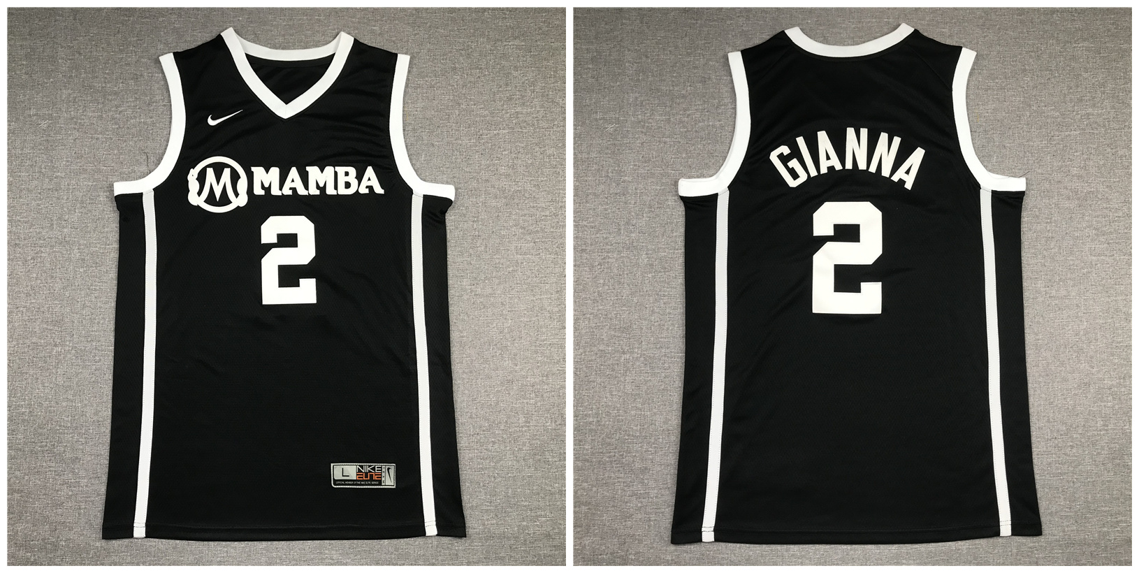 Mamba Gianna Maria 2 Black Kobe Bryant Daughter Stitched Basketball Jersey
