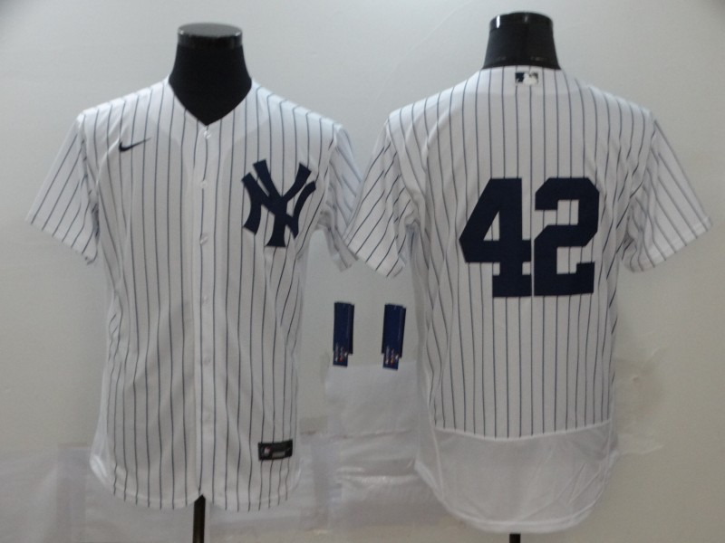 Yankees 42 Mariano Rivera White 2020 Nike Cool Base Jersey