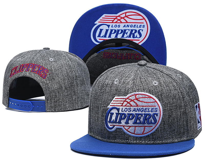 Clippers Team Logo Gray Adjustable Hat TX