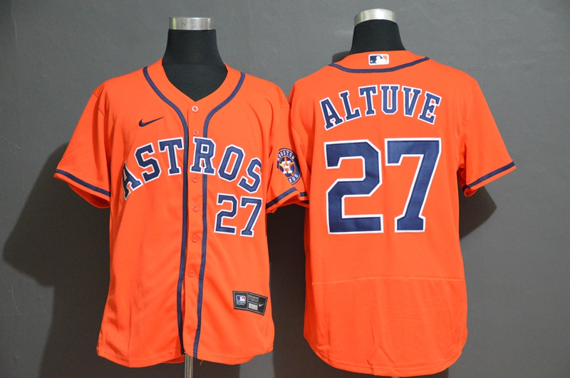 Astros 27 Jose Altuve Orange 2020 Nike Flexbase Jersey