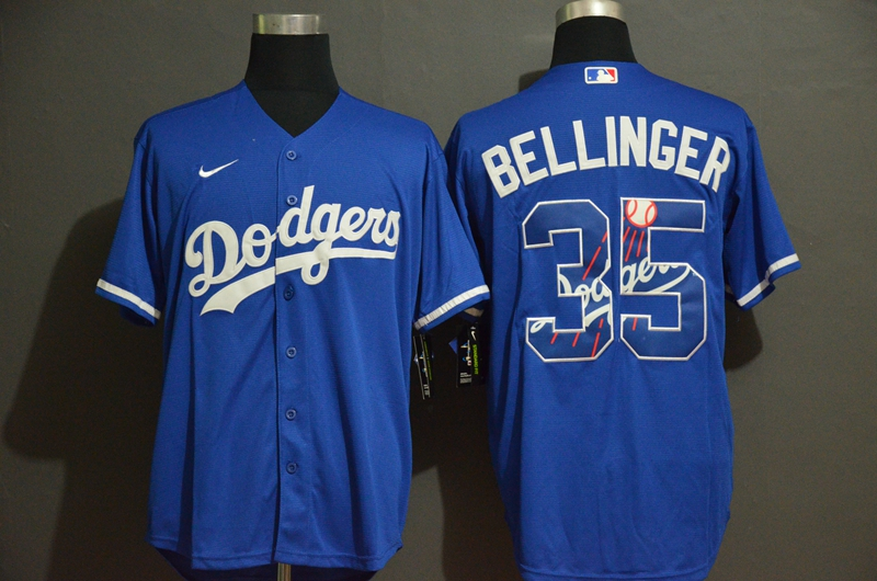 Dodgers 35 Cody Bellinger Royal 2020 Nike Cool Base With Team Logo Jersey