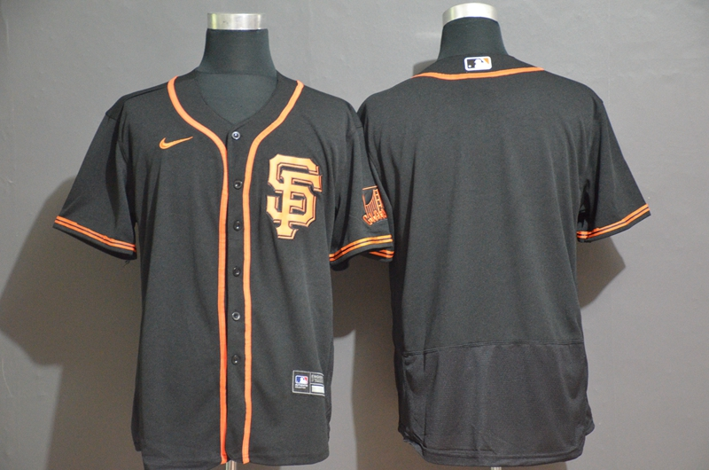 Giants Blank Black 2020 Nike Flexbase Jersey