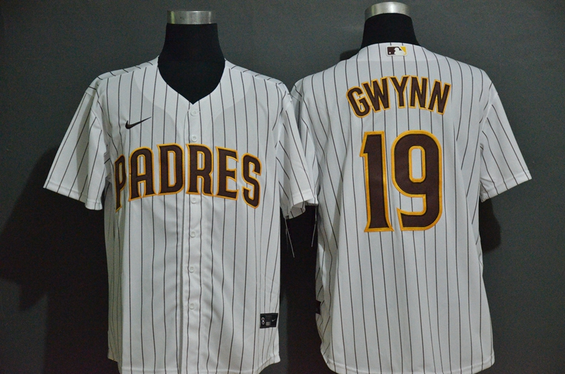 Padres 19 Tony Gwynn White 2020 Nike Cool Base Jersey