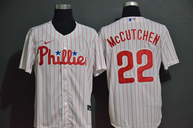 Phillies 22 Andrew McCutchen White 2020 Nike Cool Base Jersey