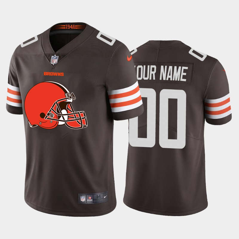 Nike Browns Customized Brown Team Big Logo Vapor Untouchable Limited Jersey