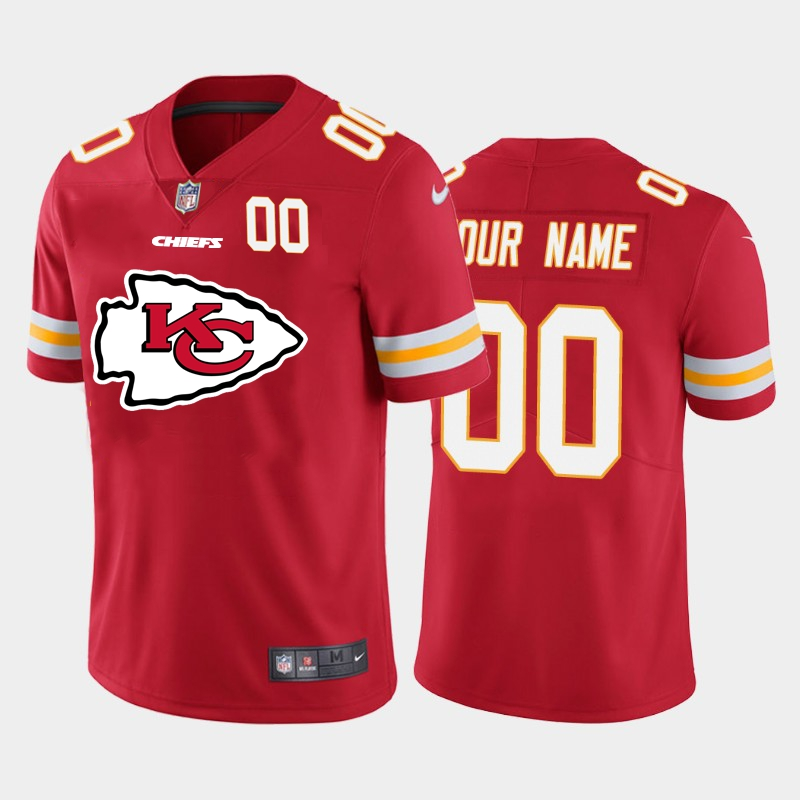 Nike Chiefs Customized Red Team Big Logo Number Vapor Untouchable Limited Jersey