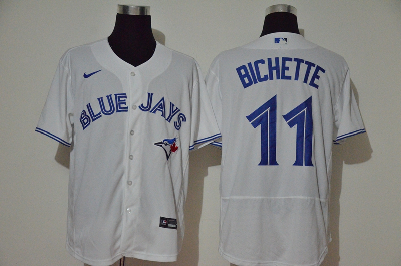 Blue Jays 11 Bo Bichette White 2020 Nike Cool Base Jersey