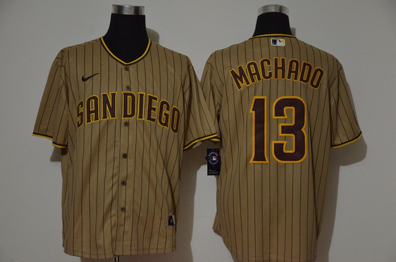 Padres 13 Manny Machado Brown Nike 2020 Cool Base Jersey