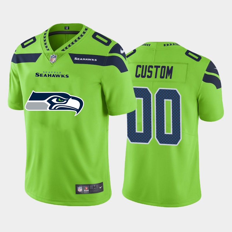 Nike Seahawks Customized Green Team Big Logo Vapor Untouchable Limited Jersey