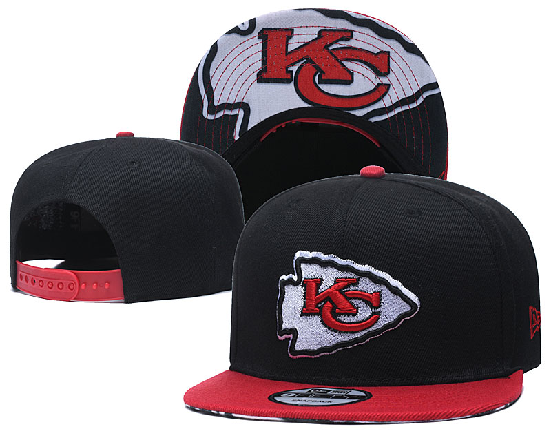 Chiefs Team Logo Black Adjustable Hat TX