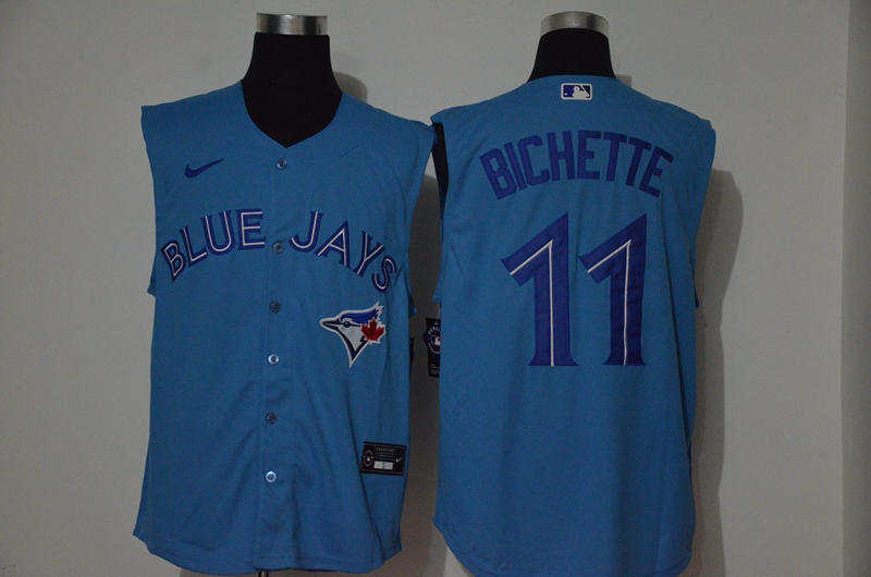Blue Jays 11 Bo Bichette Blue Nike Cool Base Sleeveless Jersey