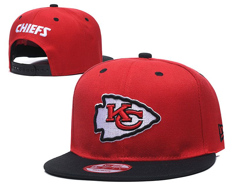 Chiefs Team Logo Red Adjustable Hat LT