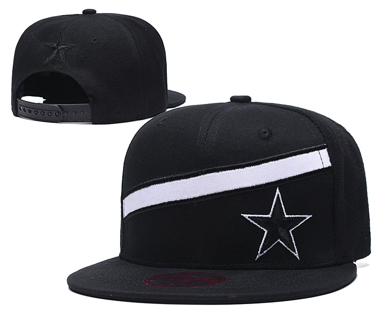 Cowboys Team Logo Black Adjustable Hat LT