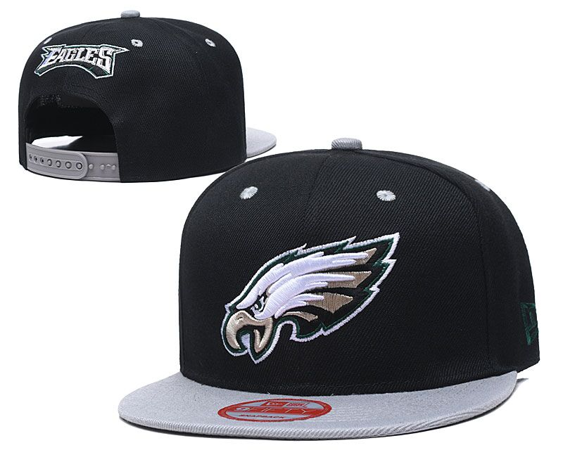 Eagles Team Logo Black Adjustable Hat LT