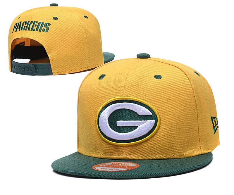 Packers Team Logo Yellow Adjustable Hat LT