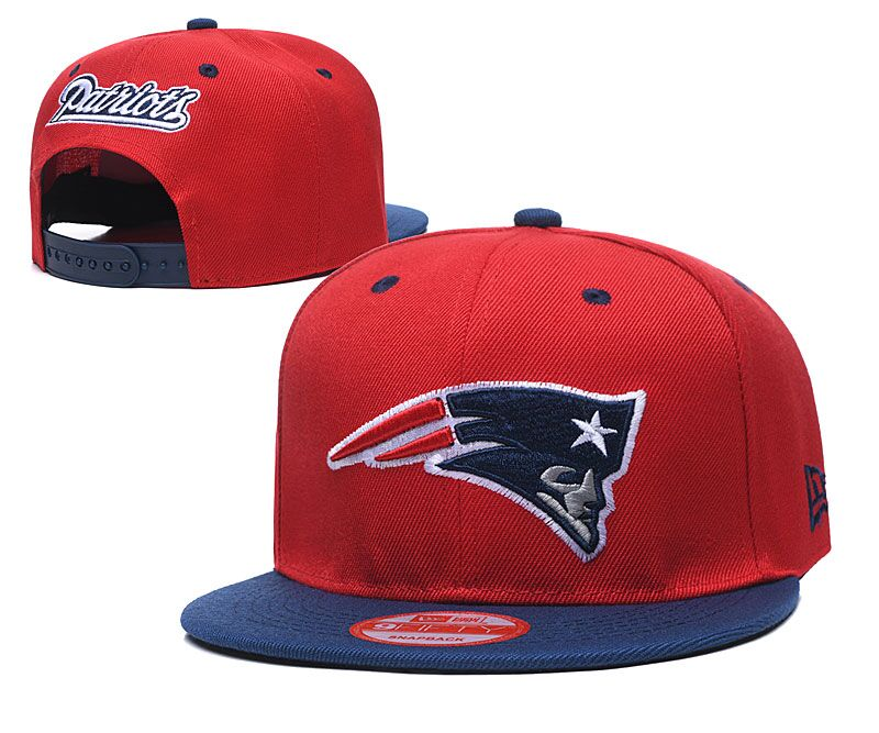 Patriots Team Logo Red Adjustable Hat LT