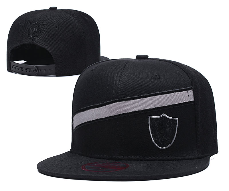 Raiders Team Logo Black Adjustable Hat LT