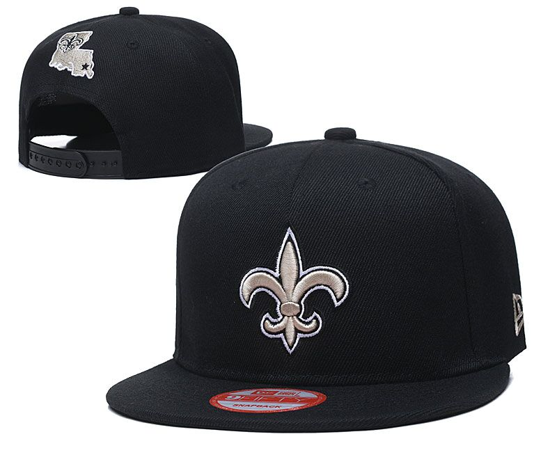 Saints Fresh Logo Black Adjustable Hat LT