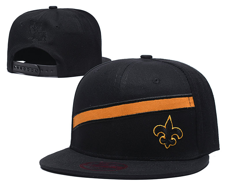 Saints Team Logo Black Adjustable Hat LT
