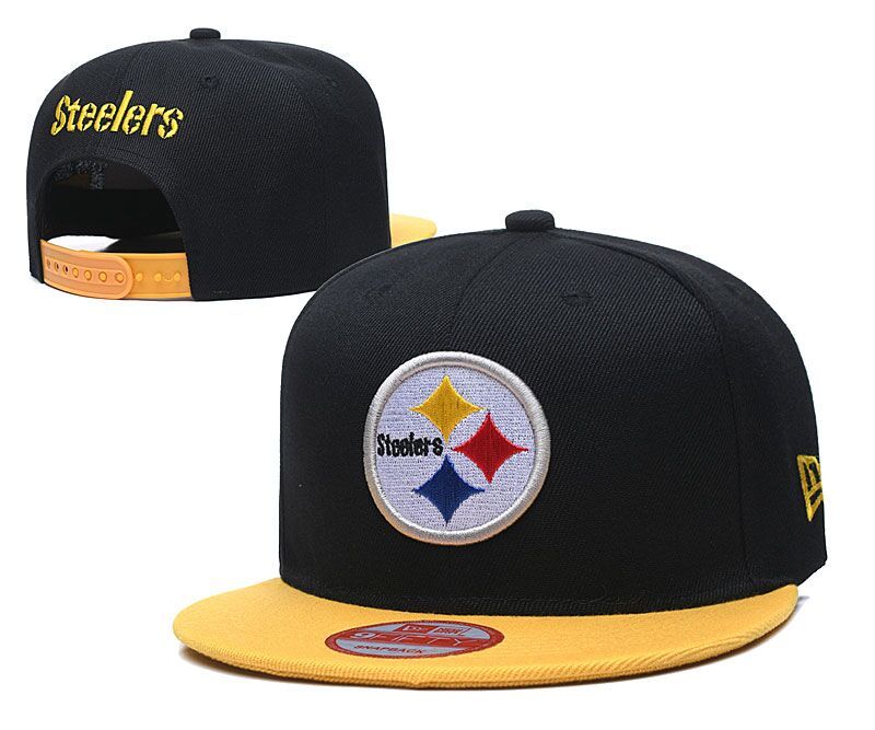 Steelers Team Logo Black Adjustable Hat LT