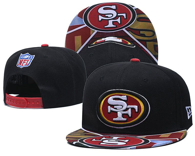49ers Team Logo Black Adjustable Hat LH