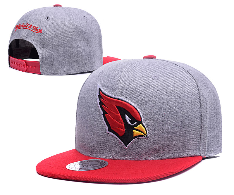Arizona Cardinals Team Logo Gray Mitchell & Ness Adjustable Hat LH