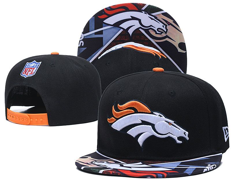 Broncos Team Logo Black Adjustable Hat LH
