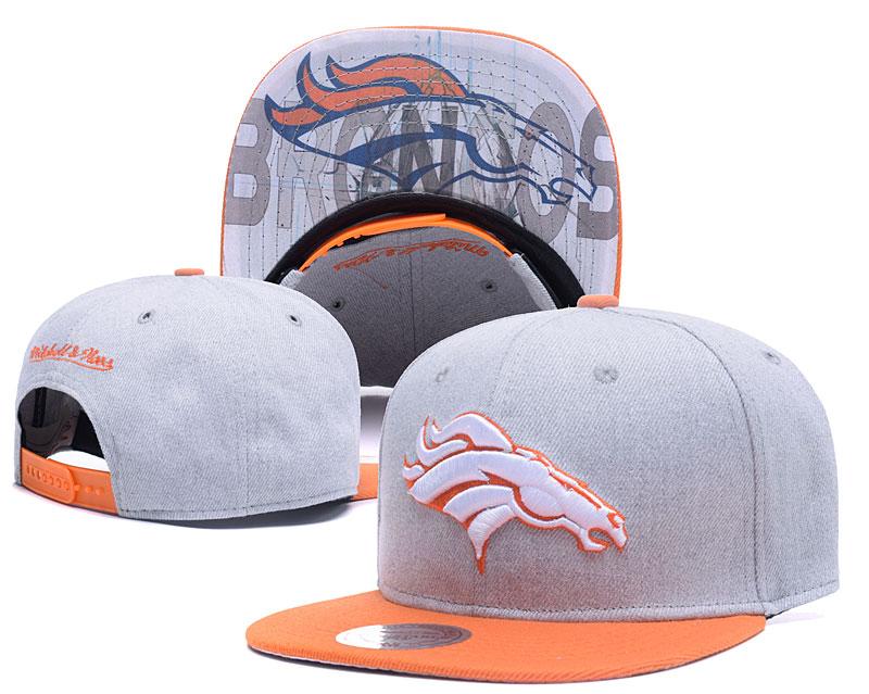 Broncos Team Logo Gray Mitchell & Ness Adjustable Hat LH.jpeg