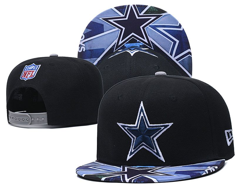 Cowboys Team Logo Black Adjustable Hat LH