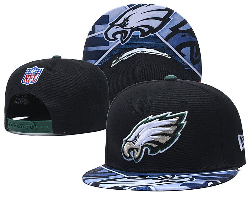 Eagles Team Logo Black Adjustable Hat LH