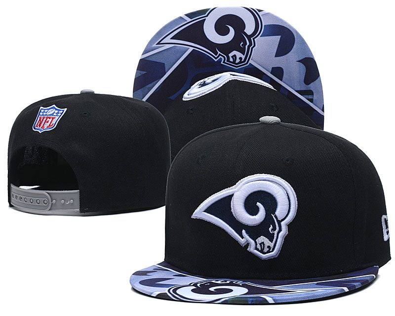 Rams Team Logo Black Adjustable Hat LH