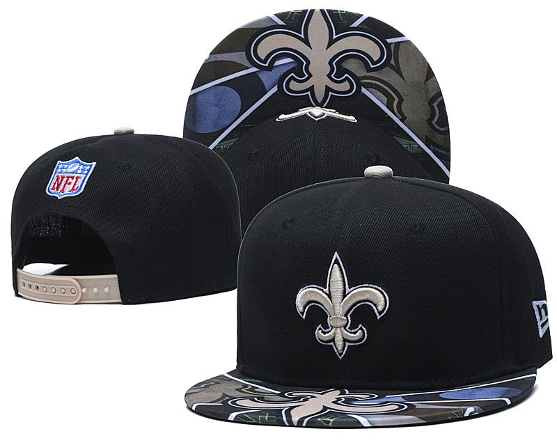 Saints Team Logo Black Adjustable Hat LH