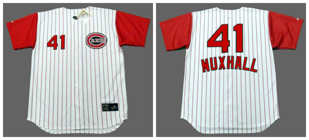 Reds 41 Joe Nuxhall White 1960 Throwback Jersey