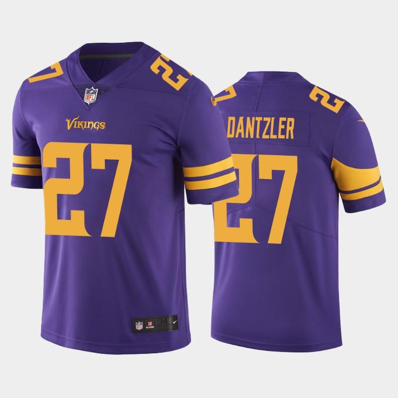 Nike Vikings 27 Cameron Dantzler Purple 2020 NFL Draft Color Rush Limited Jersey