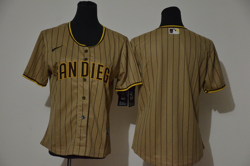 Padres Blank White Brown Cool Base Jersey