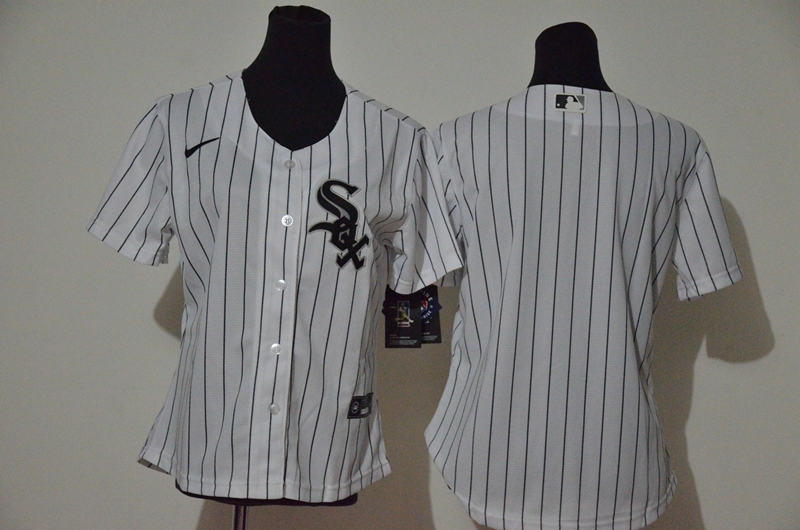 White Sox Blank White Women Cool Base Jersey