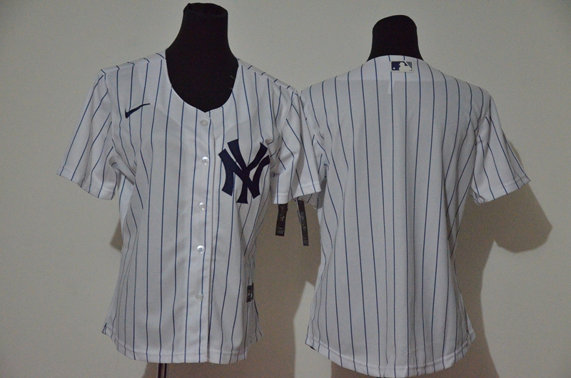 Yankees Blank White Women Cool Base Jersey
