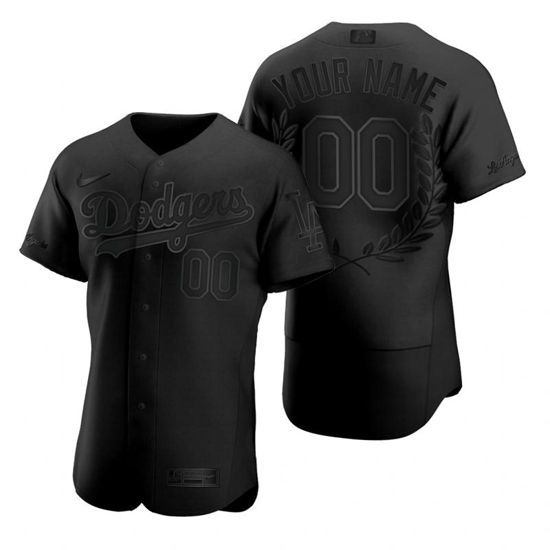 Dodgers Customized Black Nike Flexbase Fashion Jersey