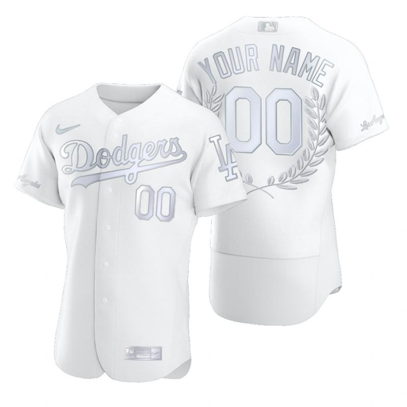 Dodgers Customized White Nike Flexbase Fashion Jersey