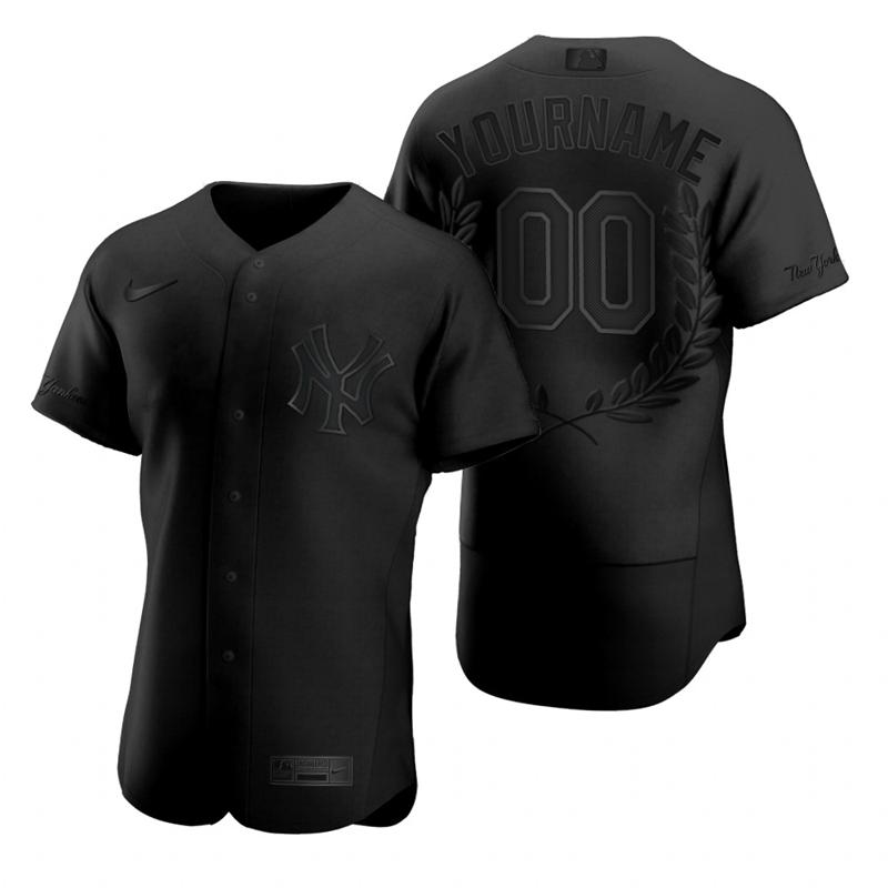 Yankees Customized Black Nike Flexbase Fashion Jersey