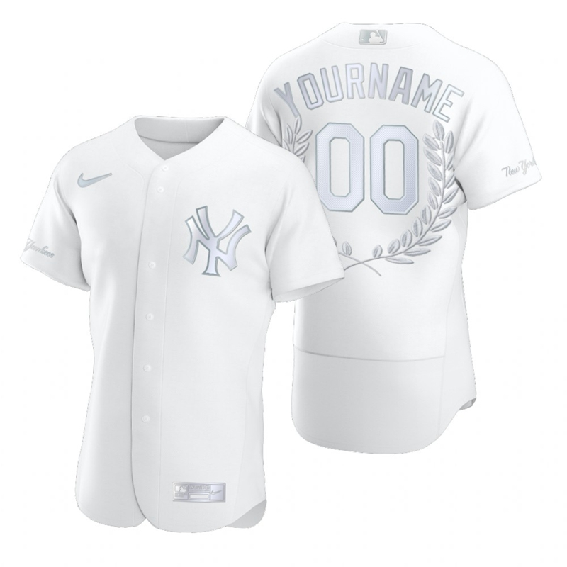 Yankees Customized White Nike Flexbase Fashion Jersey