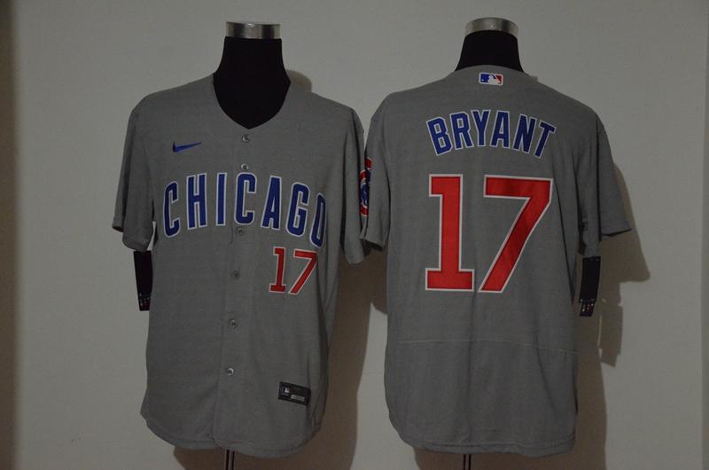 Cubs 17 Kris Bryant Gray 2020 Nike Cool Base Jersey