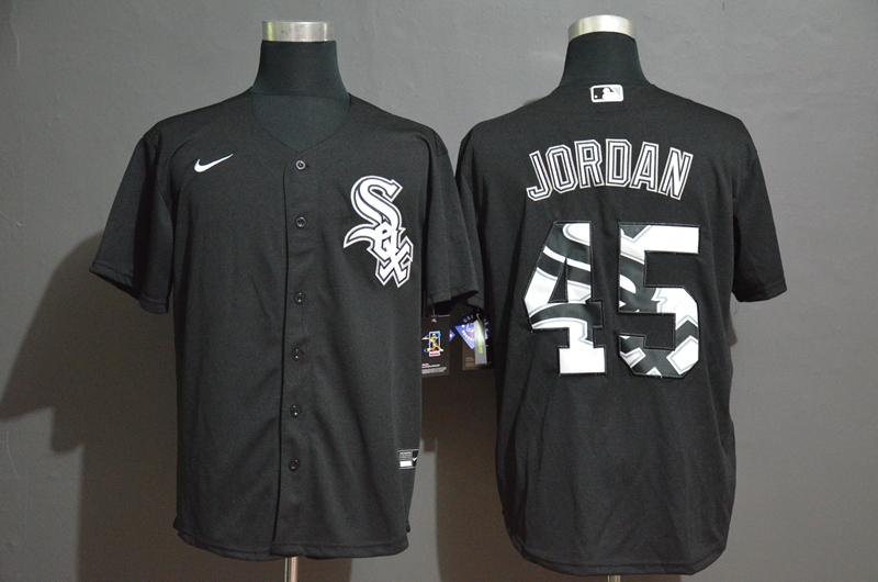 White Sox 45 Michael Jordan Black 2020 Nike Cool Base Fashion Jersey