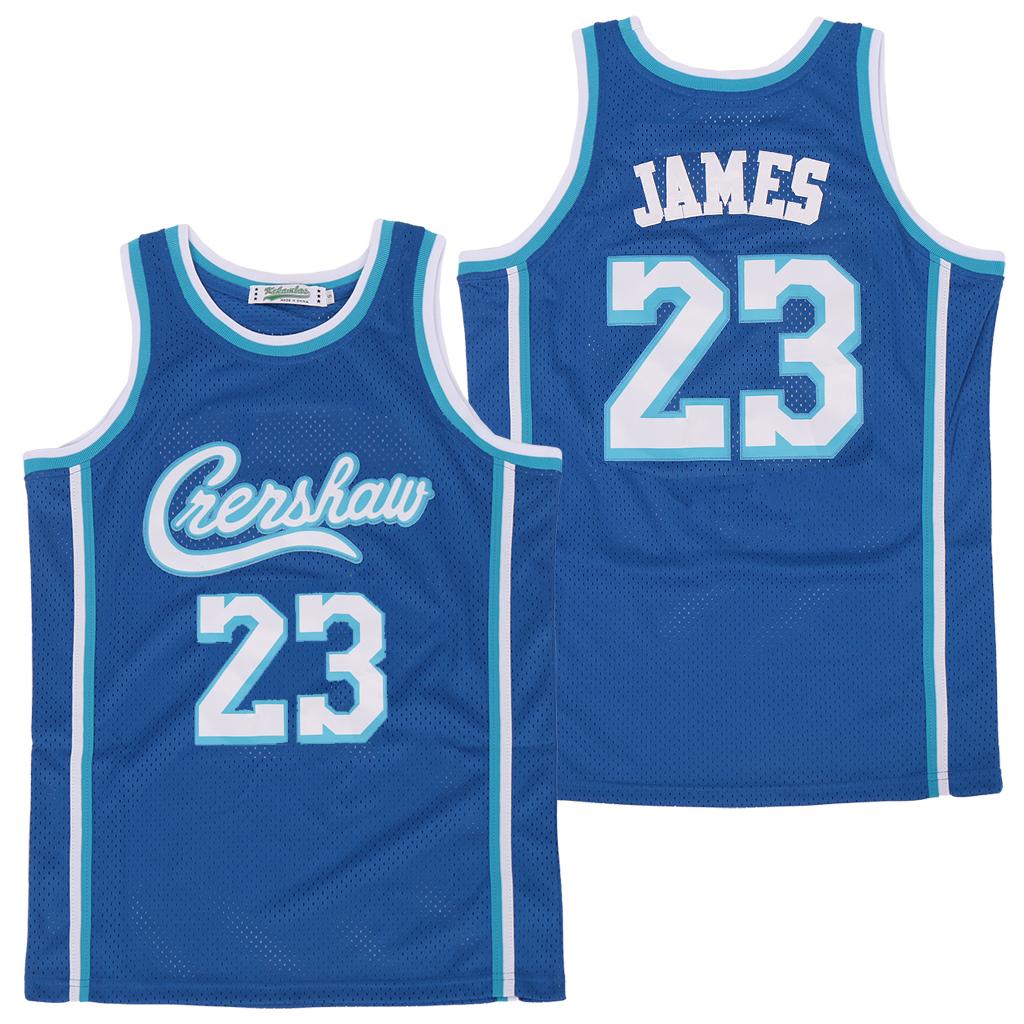 Lakers 23 Lebron James Blue Swingman Jersey